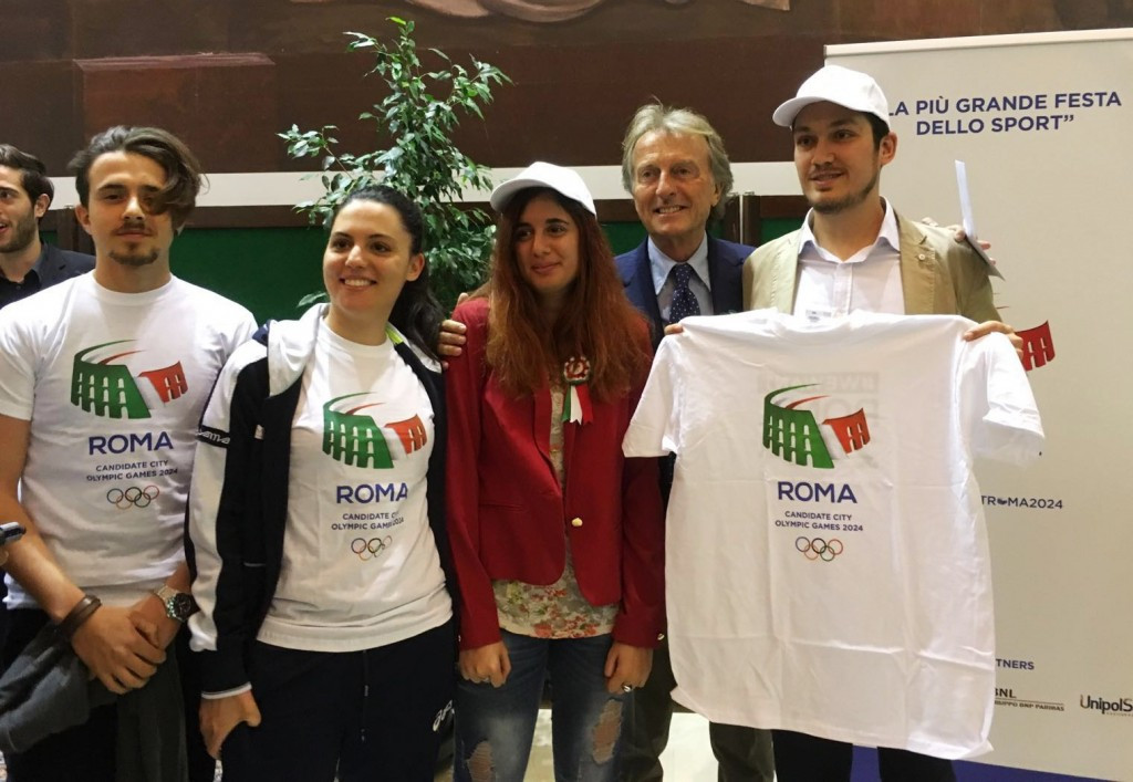Rome 2024 President Luca di Montezemolo greeted students at the event