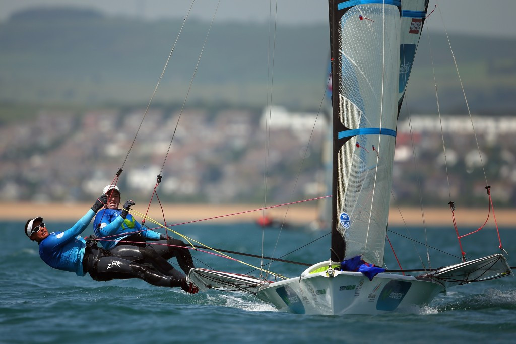 Spanish duo surge to top of 49erFX standings at 49er and 49erFX European Championships