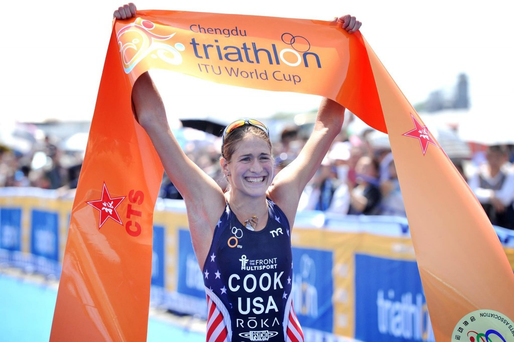 The United States' Summer Cook picked up her maiden ITU World Cup victory