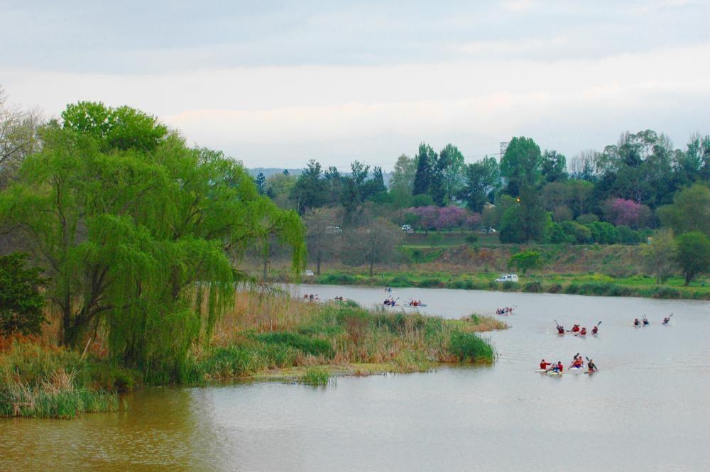 Marathon canoeing sees competitors travel large distances ©NCC
