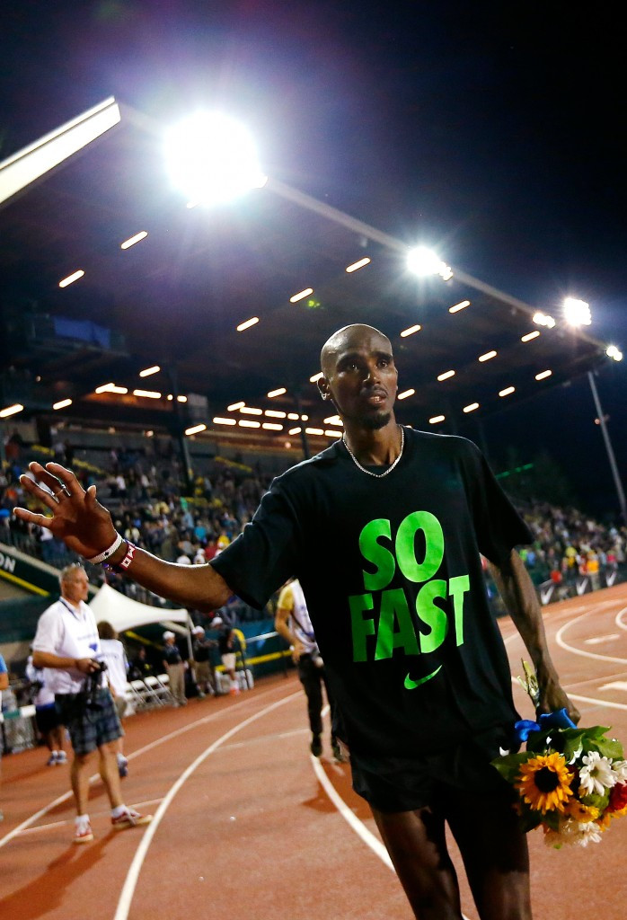 Farah maintains 10,000m win streak at IAAF Diamond League meeting in Eugene