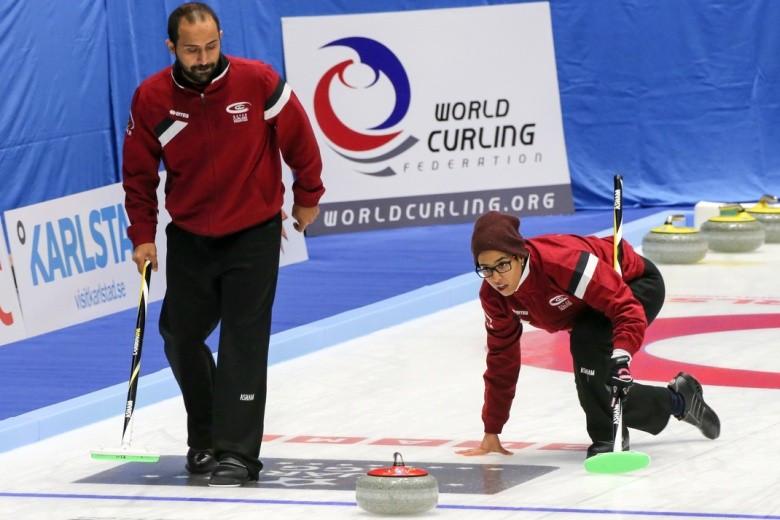 Qatar make history despite defeat at World Mixed Doubles Curling Championship