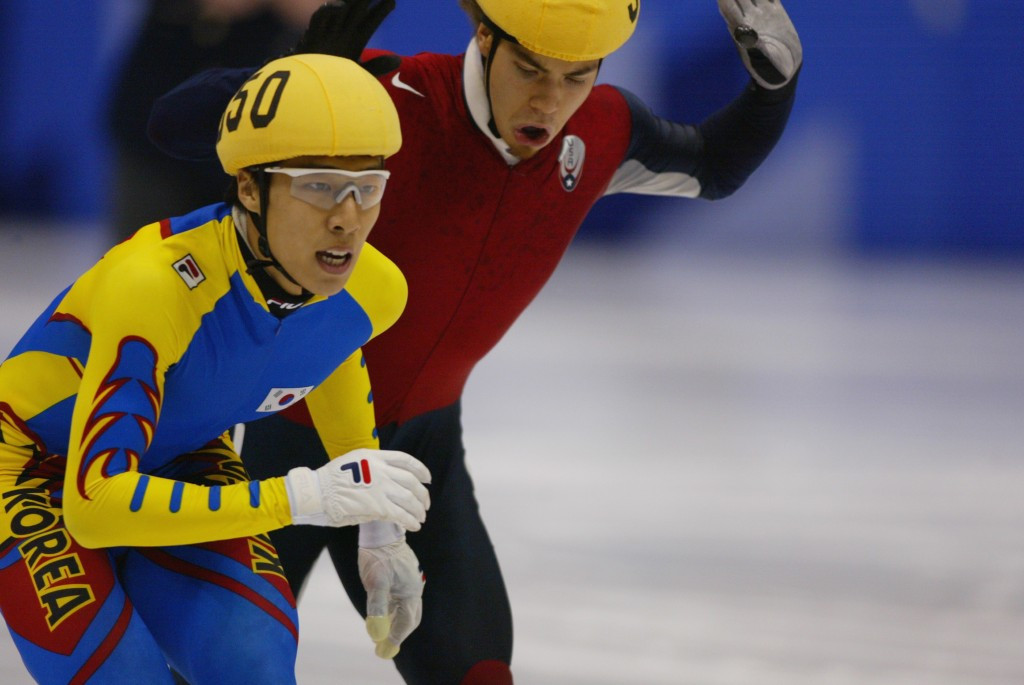 Kim Dong-sung was disqualified to give Apolo Ohno Salt Lake City gold