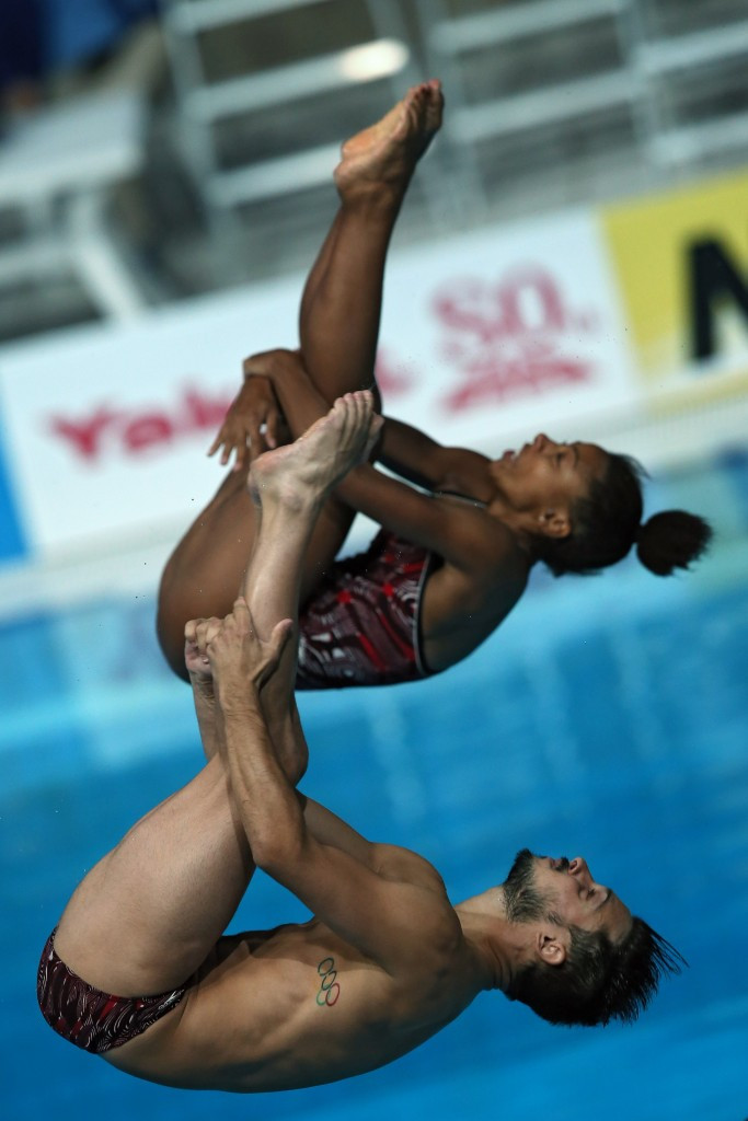 Jennifer Abel and François Imbeau-Dulac ended Chinese domination in Windsor ©Getty Images