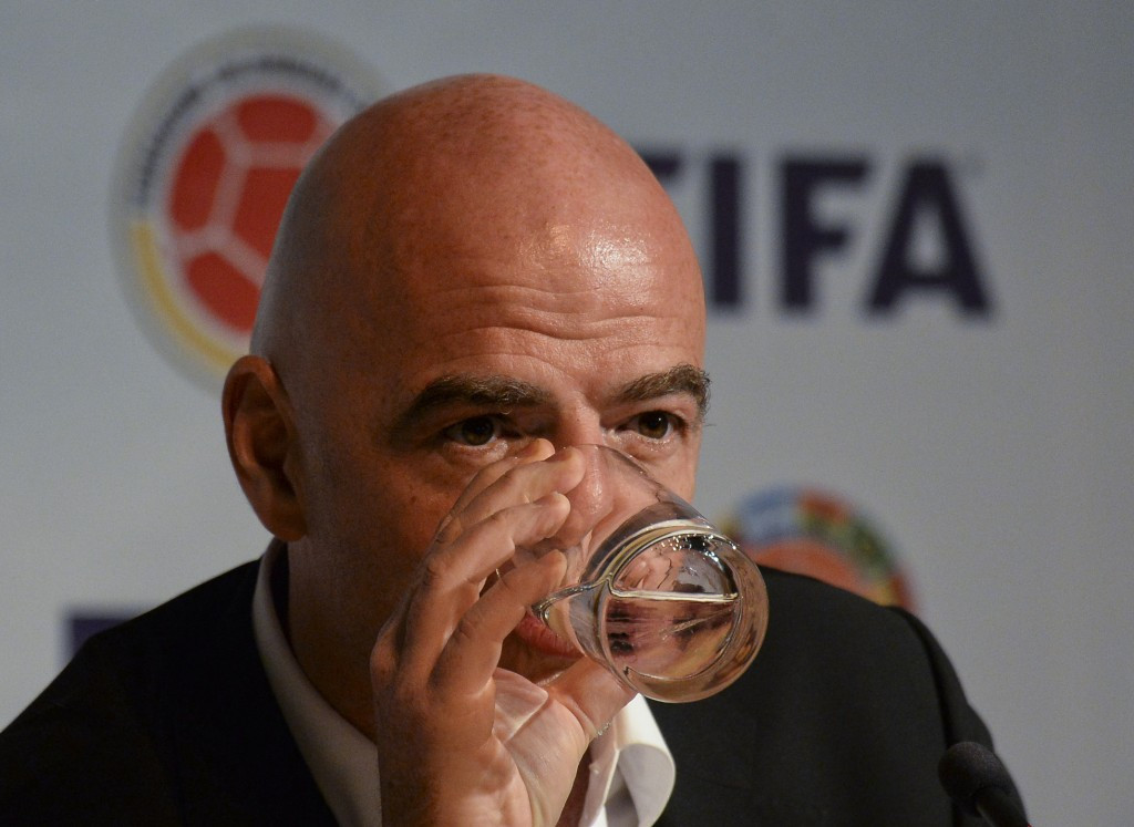 FIFA President Gianni Infantino was named in the Panama Papers concerning a broadcasting deal he signed off on during his time at UEFA but has denied he did anything wrong ©Getty Images