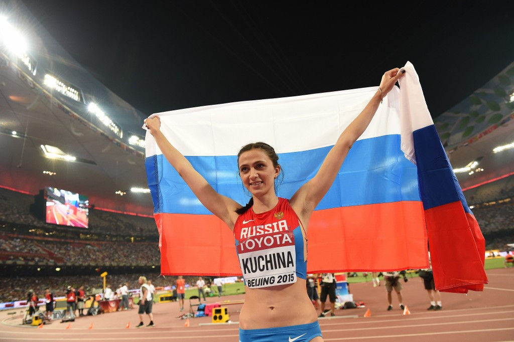 Russia's high jump world champion Maria Kuchina could potentially miss Rio 2016 and is among those to have been