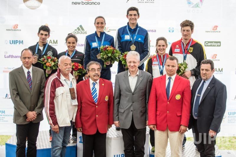 Guatemala won mixed relay gold ©UIPM