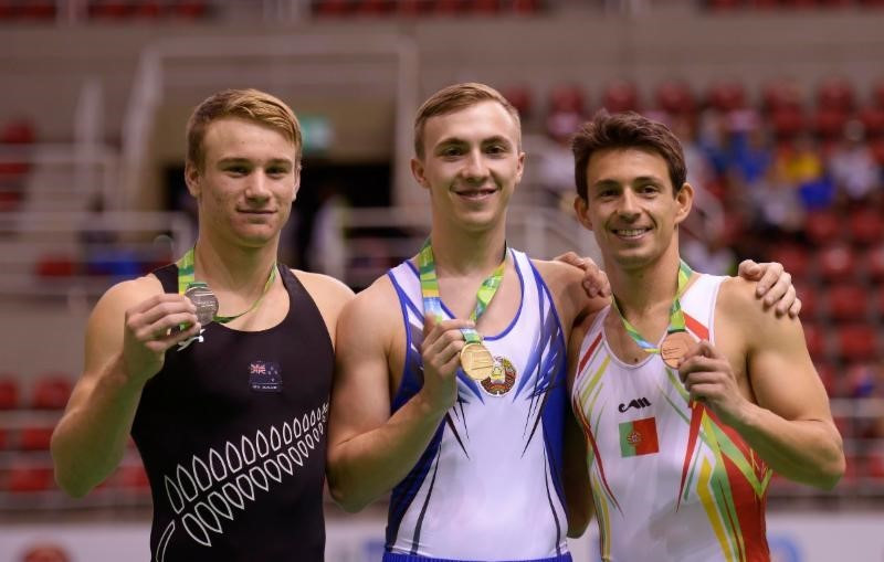 Hancharou claims trampoline gold at Rio 2016 gymnastics test event as Schmidt earns New Zealand Olympic berth