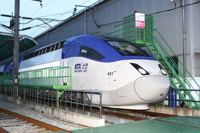 A bullet train for the line was unveiled in March