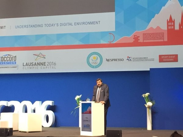 Yiannis Exarchos revealed more details about the Olympic TV Channel ©SAC/Twitter