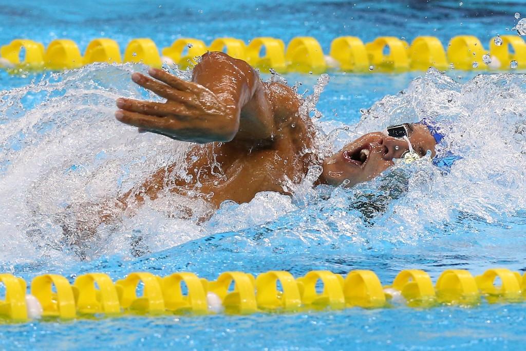 Brazil's Miguel Valente won the men's 1,500m freestyle