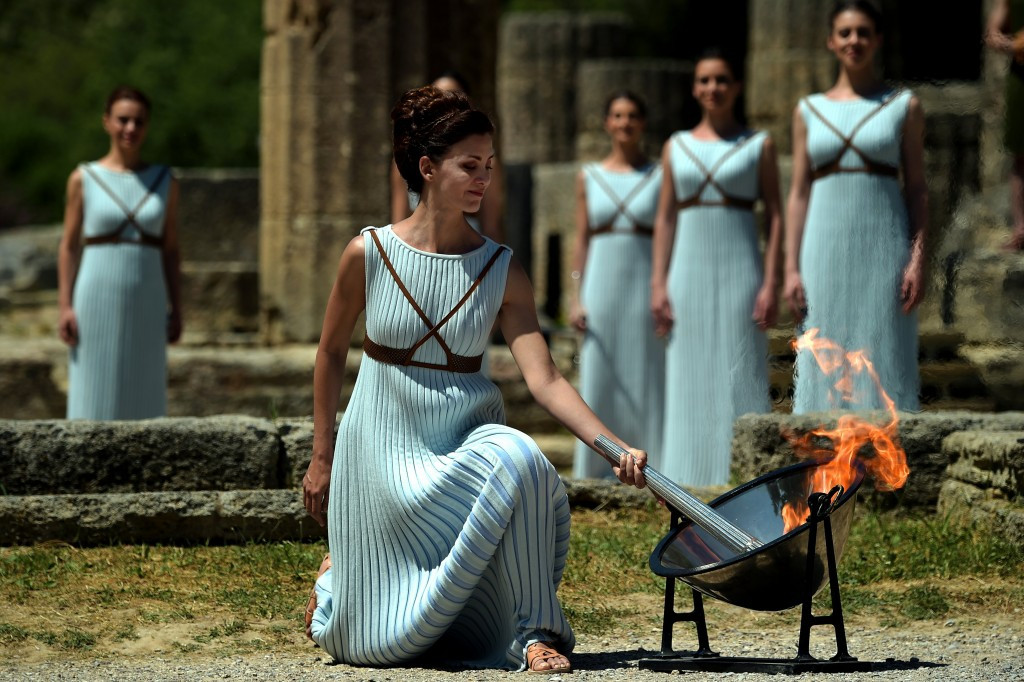 Olympic flame begins journey to Rio 2016 after Ancient Olympia ceremony
