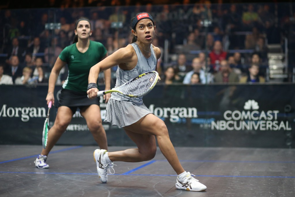 Nicol David will look to retain the World Championship title in front of a home crowd ©squashpics.com