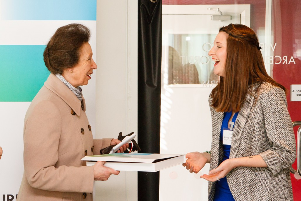 Princess Anne visits London 2012 Olympic Park after appointment as charity's patron