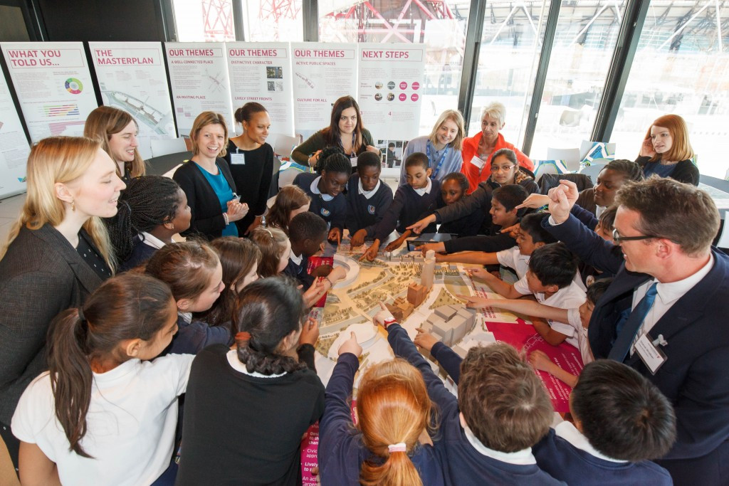 HRH Princess Royal met school pupils at the event