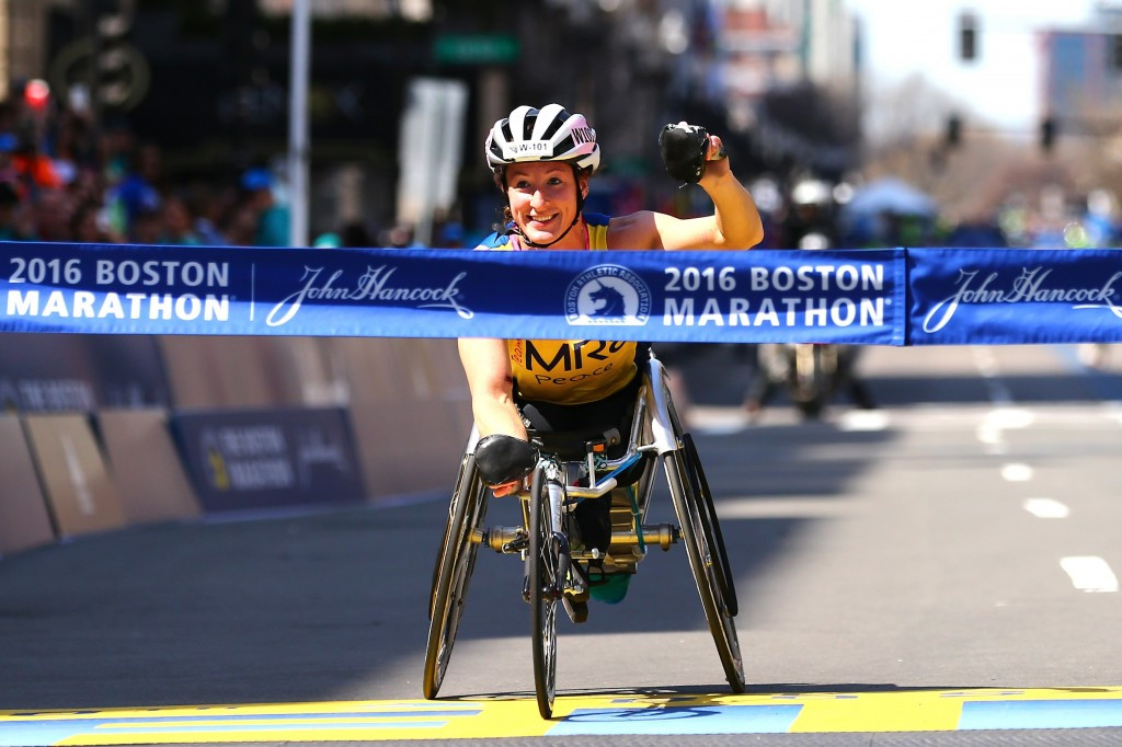 Tatyana McFadden won the Boston Marathon on Monday (April 18)