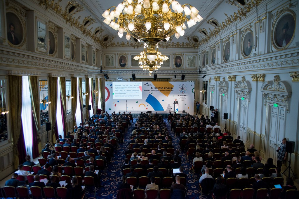 Several representatives from Budapest 2024 were present at the event in the Hungarian capital