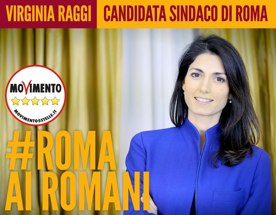 Mayoral candidate Virginia Raggi has declared her opposition to the Rome 2024 bid ©Twitter
