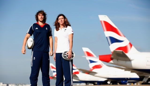Team GB's rugby sevens hopeful Dan Bibby (left) attended the launch event along with Melissa Reid (right), who is aiming to represent Paralympics GB in triathlon ©Getty Images