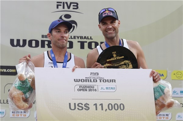 Top seeds Dalhausser and Lucena earn men's title at FIVB Fuzhou Open