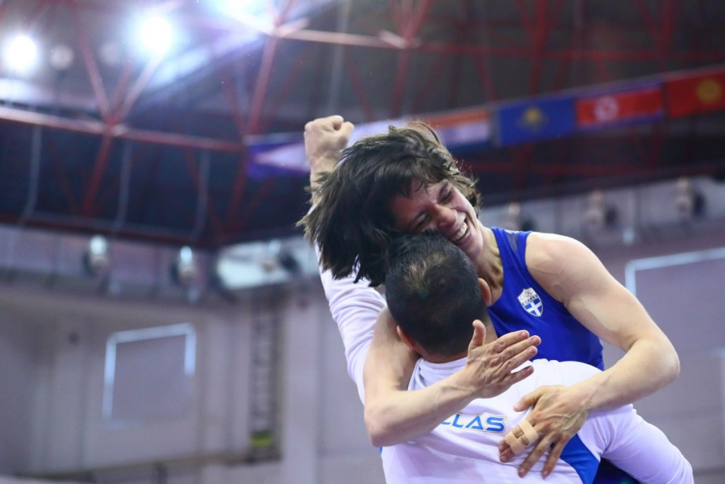 Maria Prevoloraki of Greece earned a quota place for her country in the 53kg event