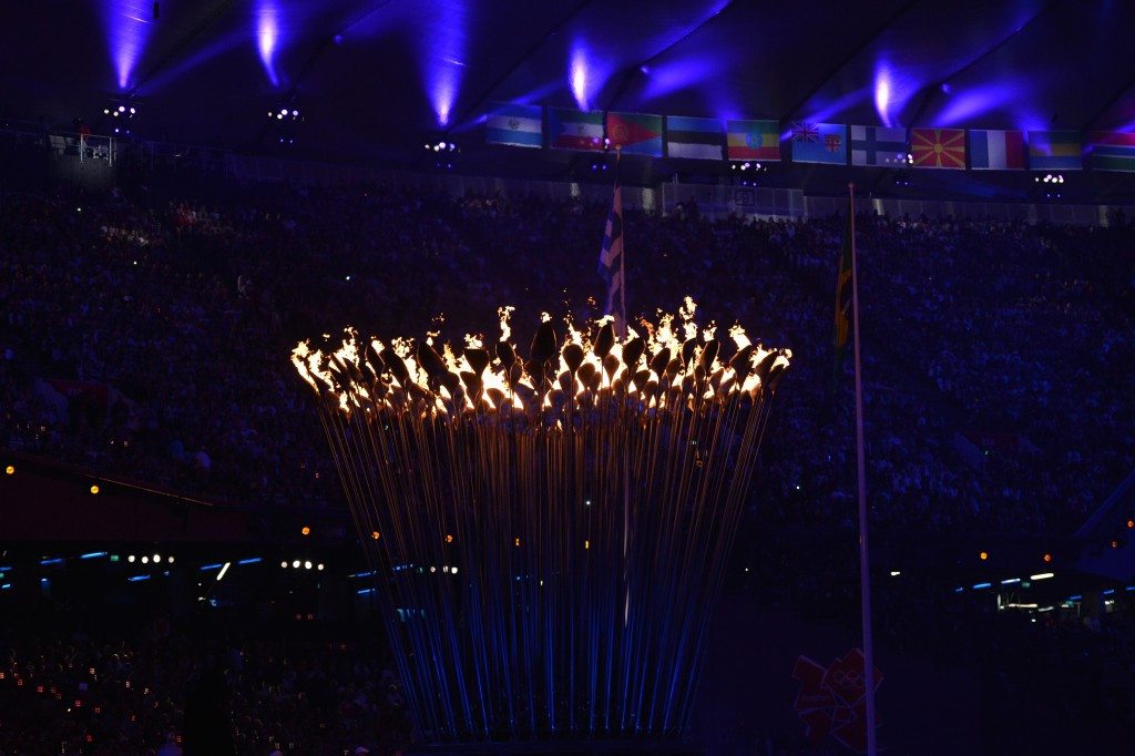 The London 2012 Olympic Cauldron included a petal for every competing nation ©Getty Images