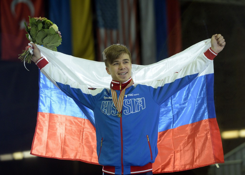 Russia's Olympic short track speed skating champion Semion Elistratov is one of the most high-profile athletes to have had their provisional suspension for meldonium lifted ©Getty Images