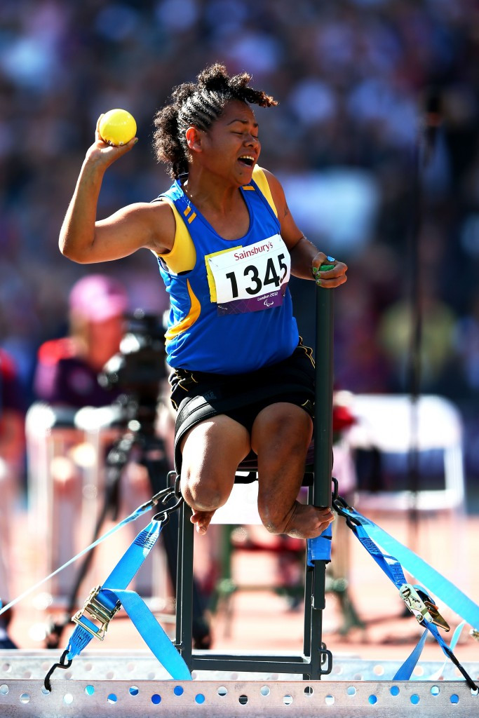 Hellen Saohaga was the Solomon Islands' sole representative at the London 2012 Paralympic Games ©Getty Images