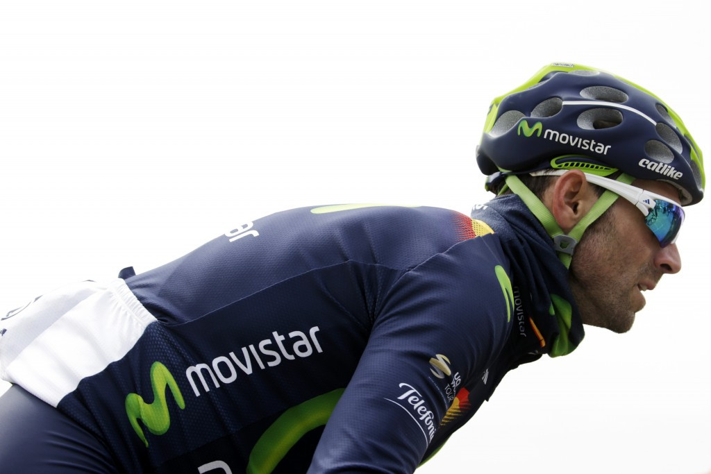 Spain's efending champion and pre-race favourite Alejandro Valverde of Movistar toiled in the difficult conditions and finished a disappointing 16th ©Getty Images