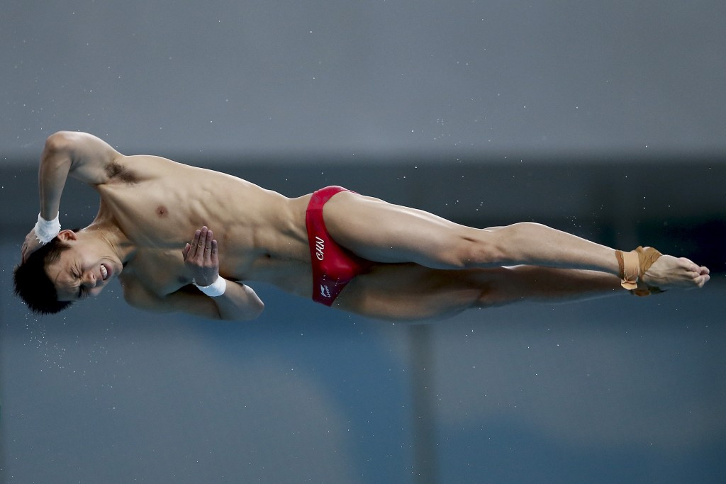 China's Chen Aisen won the men's 10m platform