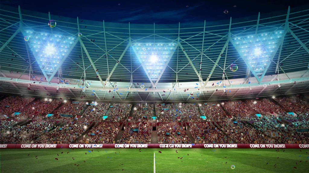 Premier League club West Ham United will move from their current home at Upton Park to the Olympic Stadium on the Queen Elizabeth Park in London from the start of next season ©WHUFC