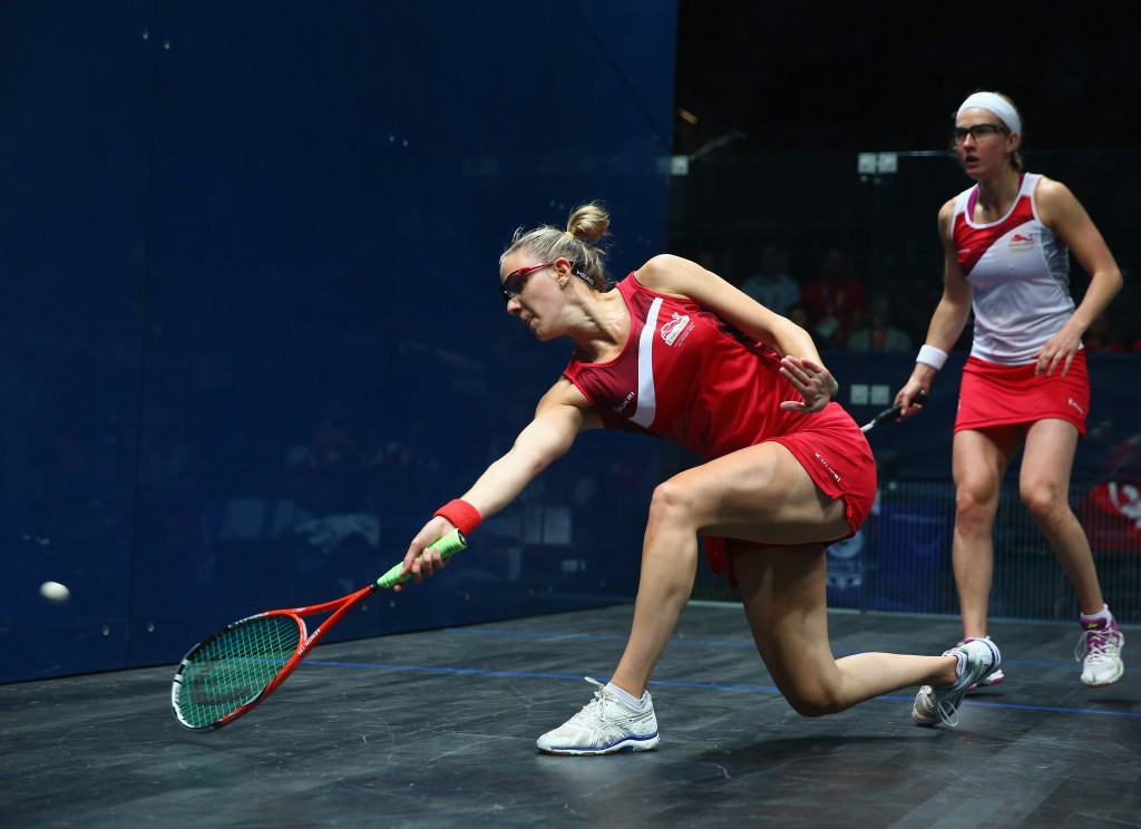 World number one Laura Massaro survived a scare as she recovered from a game down to beat Mexican qualifier Samantha Teran ©Getty Images