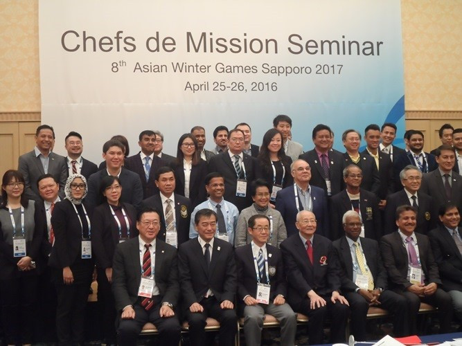 All 45 Asian NOCs urged to participate in Sapporo 2017 Winter Games