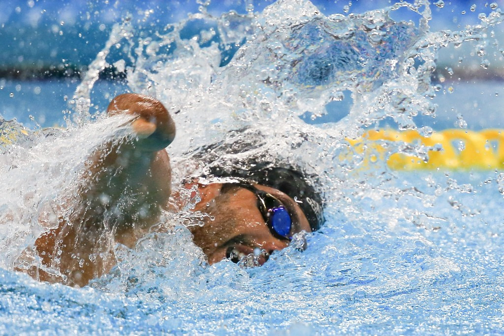 Daniel Dias swims in the 50m freestyle S5 final ©Getty Images