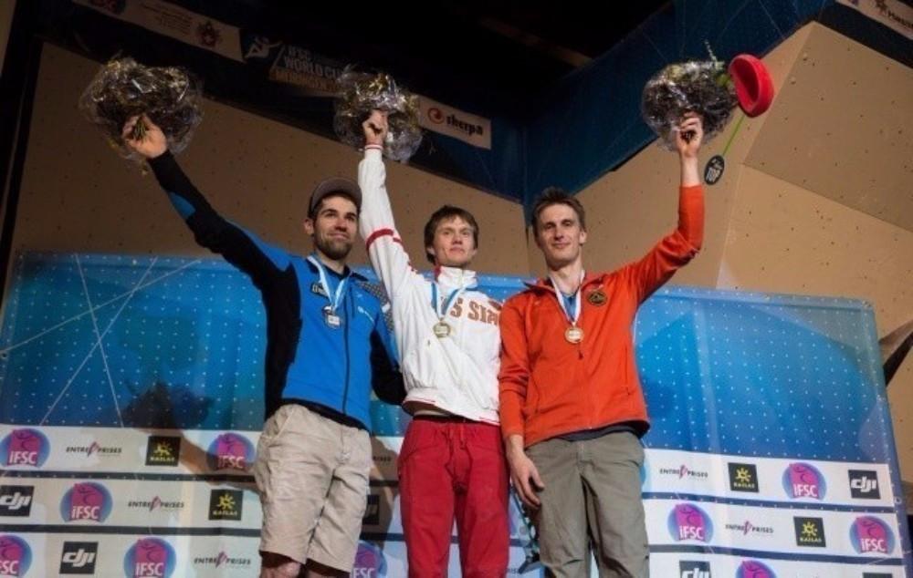Russia's Alexey Rubtstov topped the men's podium in Meiringen