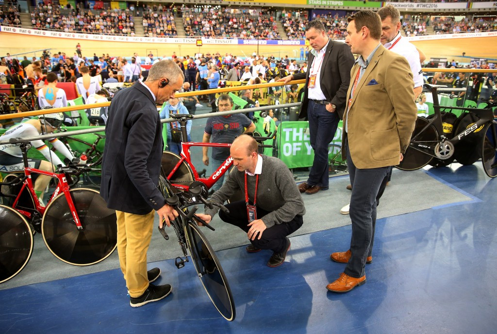 The UCI conducted 274 bike checks at the Track World Championships in London last month ©Getty Images