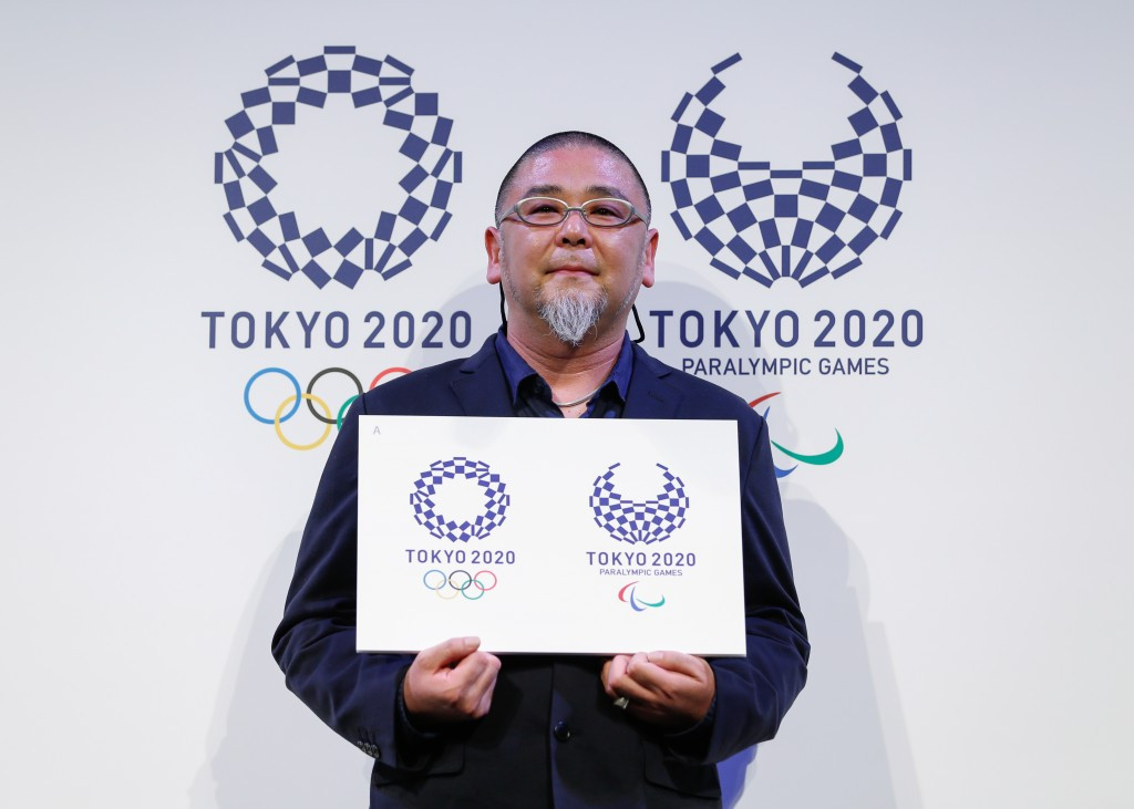 Tokyo 2020's new emblem for the Olympic and Paralympic Games has provoked a mixed response from art critics and the general public ©Getty Images