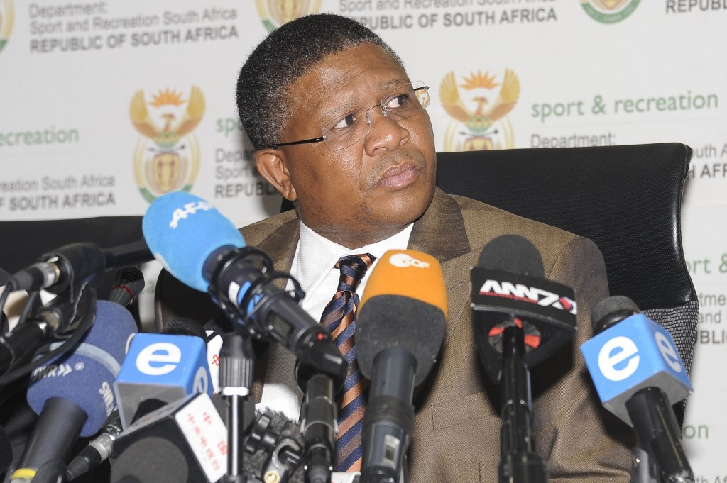 South Africa's Sports Minister Fikile Mbalula banned the four Federations representing athletics, cricket, netball and rugby from hosting events for their perceived lack of work in incorporating black players ©Getty Images