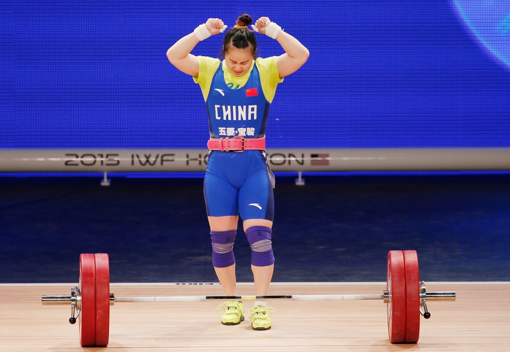 Xiaoting Chen led a Chinese one-two in the women's 53kg category as action continued today at the Asian Weightlifting Championships ©Getty Images