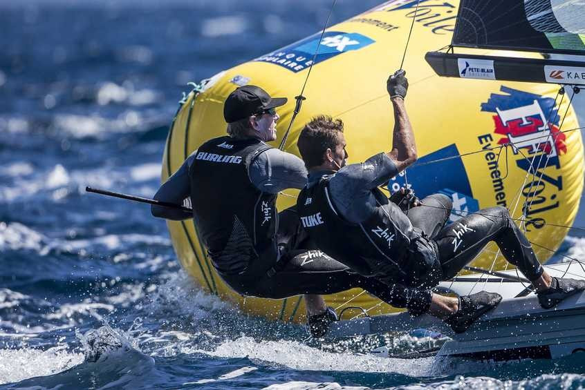 Burling and Tuke top 49er standings after opening day of Sailing World Cup in Hyères