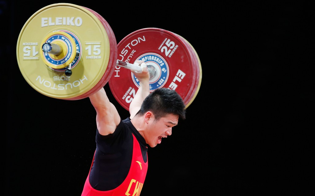 World champion Zhiyong Shi of China added a continental gold medal to his collection after claiming the men's 77kg title at the Asian Weightlifting Championships ©Getty Images