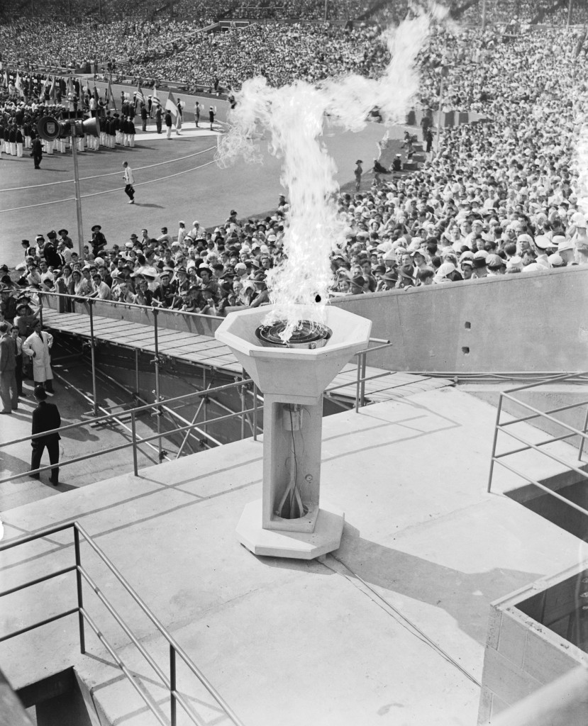 The Torch visited Lausanne before arriving at Wembley for the London 1948 Opening Ceremony ©Getty Images