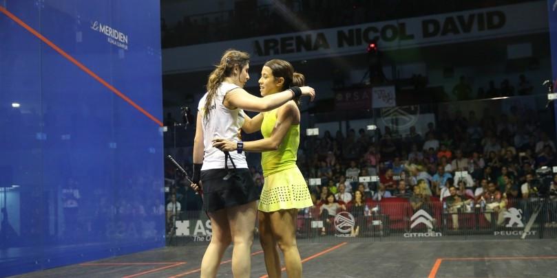 Nour El Sherbini dispatched defending champion and home favourite Nicol David at the PSA Women's World Championship in Kuala Lumpur ©PSA