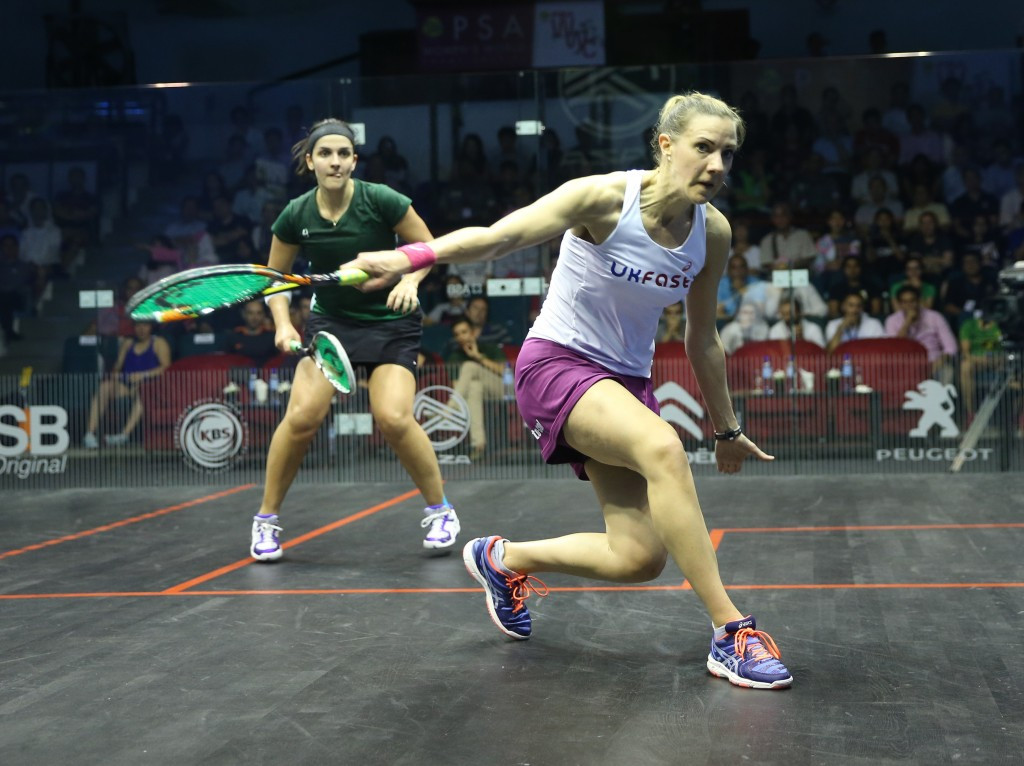England's Laura Massaro is the only non-Egyptian left in the tournament