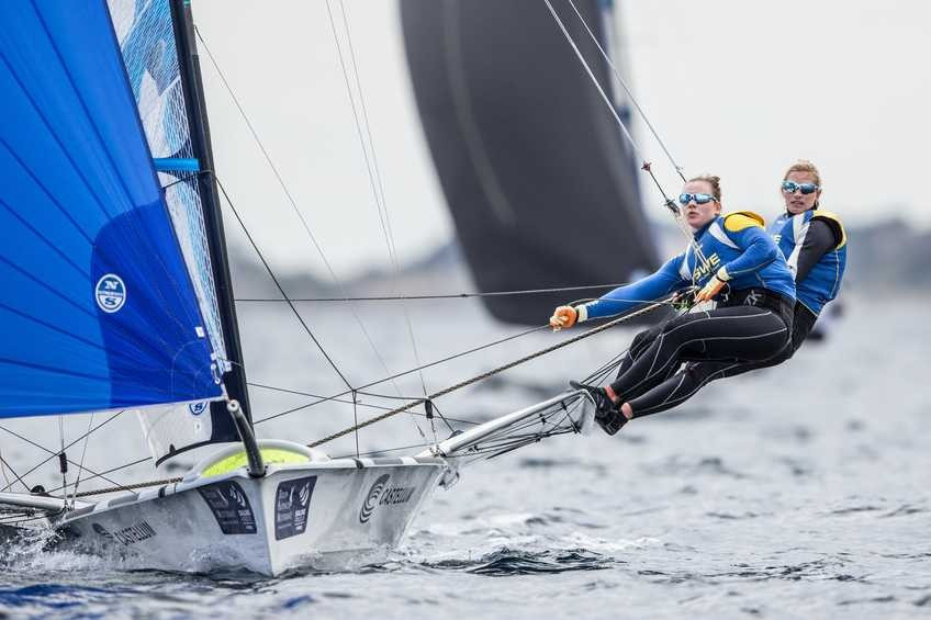 Swedish duo take early 49erFX lead at Sailing World Cup in Hyères