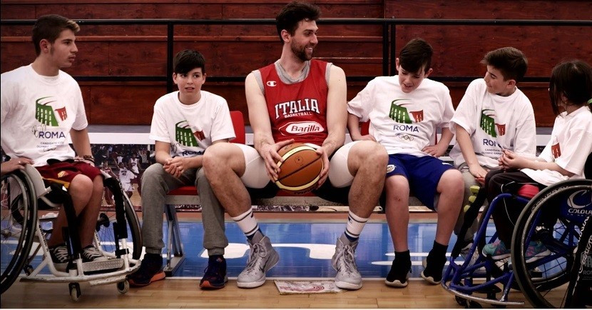 Italian basketball player Andrea Bargnani features in Rome 2024's latest bid video ©Rome 2024