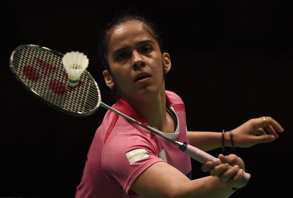 India's Saina Nehwal reached the women's semi-finals