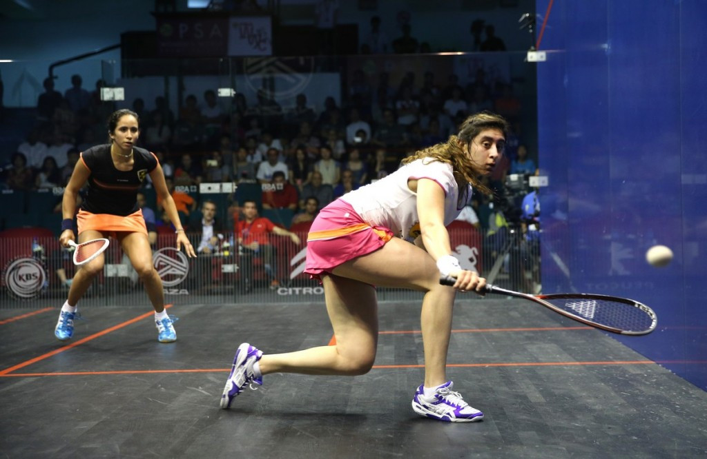 Nour El Sherbini eased into the final in Malaysia