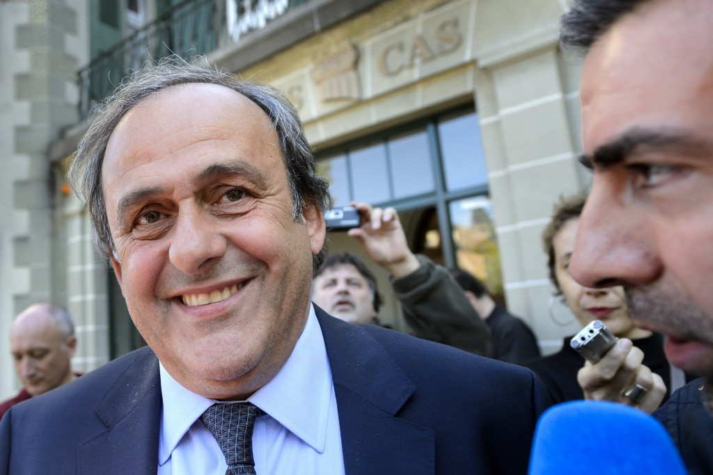 Michel Platini at the Court of Arbitration for Sport today ©Getty Images