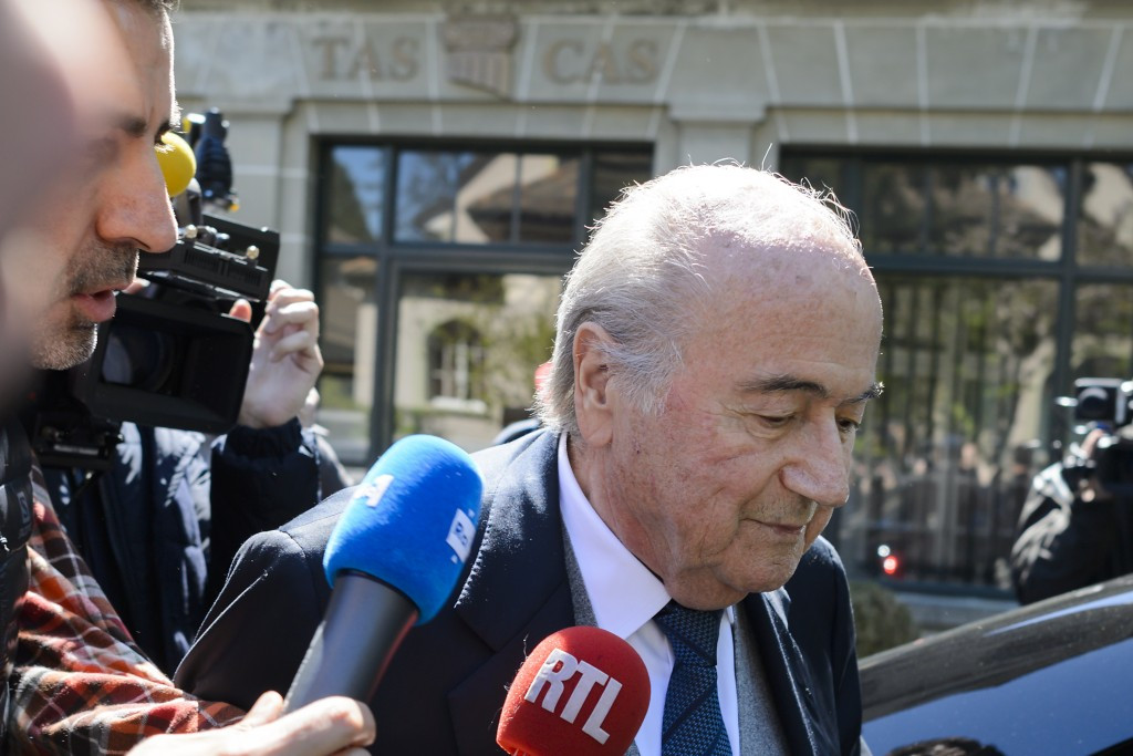Former FIFA President Sepp Blatter appeared as a witness today